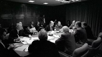 George HW Bush in Situation Room