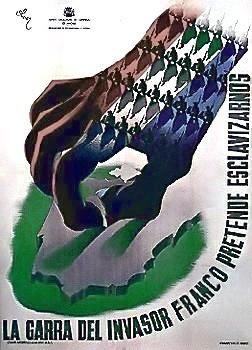Spanish Republican poster (Pax Columbia)