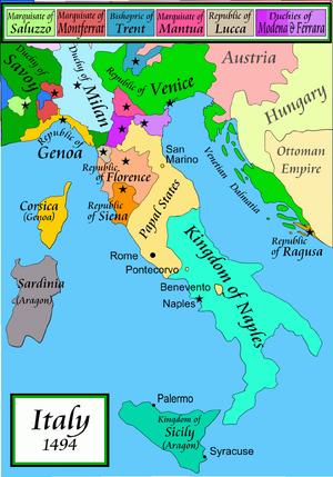 Карта Италии-0