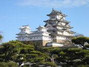 800px-Himeji Castle The Keep Towers