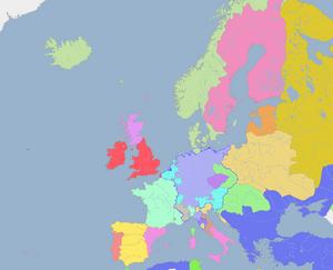 Mapa de Europa en 1546.