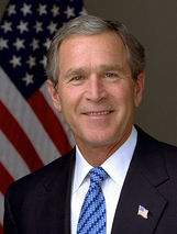 Official portrait of George W. Bush