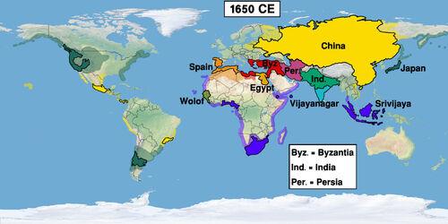 Map World 1650 (Easternized World)