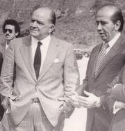 Miguel Otero Silva y Carlos Andrés Pérez