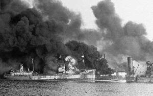 Bari burning-ships