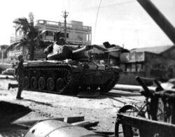 M41 Walker Bulldog en las calles