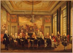 Régence du duc d'Orléans, Council with Cardinal Fleury