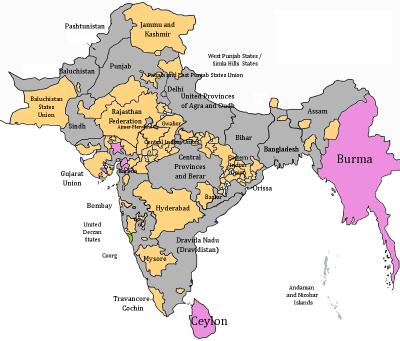 Map Of England Provinces.Provinces And Princely States Of India Twilight Of A New Era