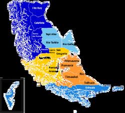 Región de Magallanes y Antártica Chilena provincias y comunas