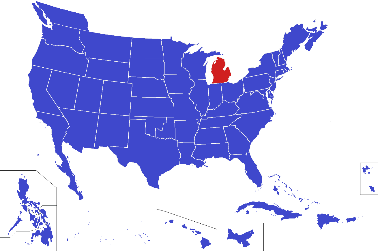 Image United States Map Michigan Alternitypng Alternative - Michigan on a us map