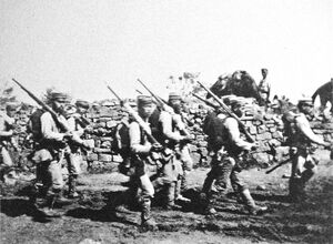Japanese soldiers near Chemulpo Korea August September 1904 Russo Japanese War