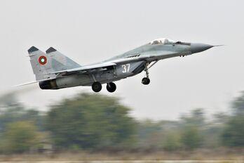 MiG-29 taking off Graf Ignatievo AB Bulgaria 2010