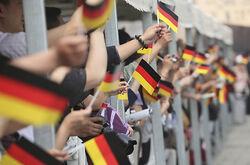 Germans celebrating