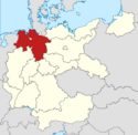 Locator map Hanover in Germany (IM)
