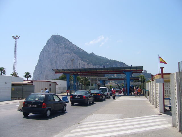 File:Rock of Gibraltar from the Spanish side of the frontier.jpg