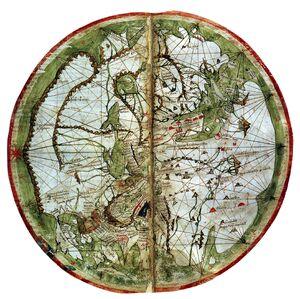World map pietro vesconte