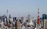 Tokyo Tower and Tokyo Sky Tree 2011 January