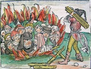 Burning Jews