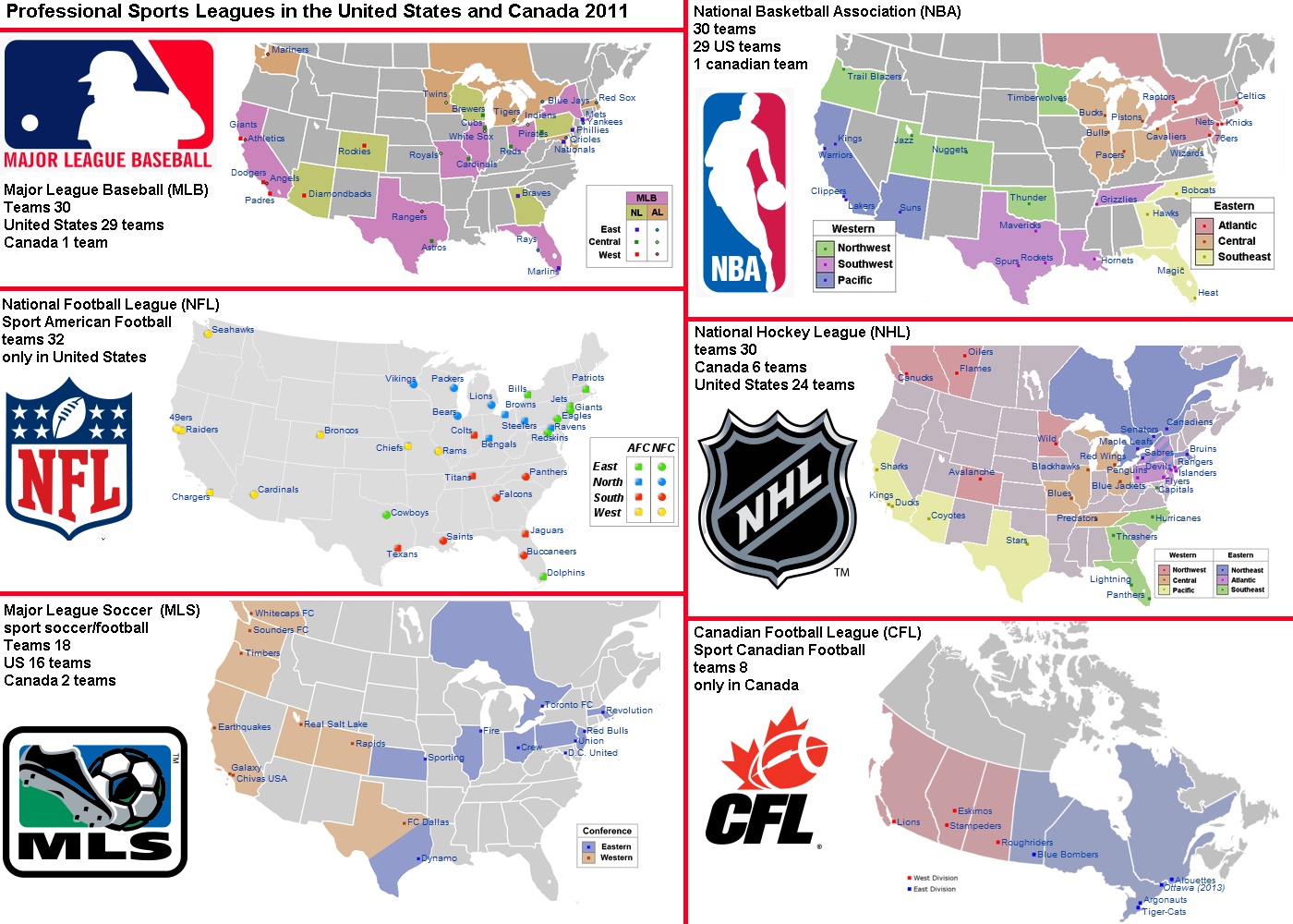 Professional Sports Teams By State Map.United States Map With Sports Androidplay Store