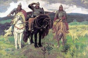 Картина Васнецова «Богатыри», 1898.