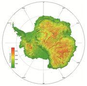 Antártida sin hielo - Mapa