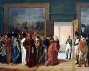 The Persian Envoy Mirza Mohammed Reza Qazvini Finkenstein Castle 27 Avril 1807 by Francois Mulard