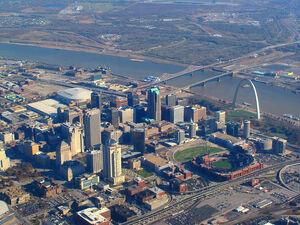 Aerial view of St. Louis, Missouri, 2008-11-19 edit
