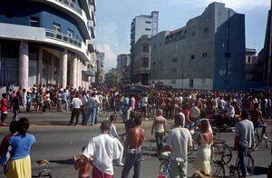Protestas anti guerra en la habana