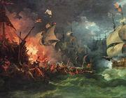 200 years war Maya Fireboats