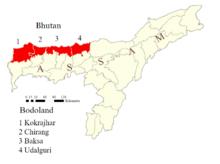 Bodoland mapa