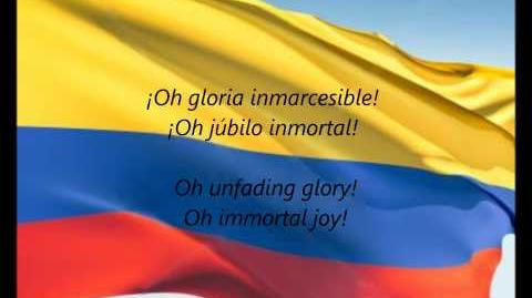 "Colombian National Anthem - ""¡Oh Gloria Inmarcesible!"" (ES EN)"