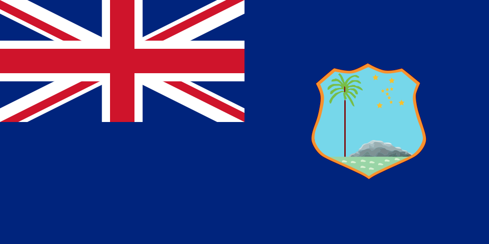 Flag Of The British West Indies Central Italy
