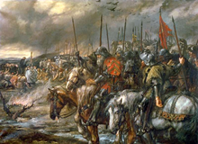 Morning of the Battle of Agincourt, 25th October 1415