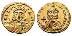 Solidus-Leo III and Constantine V-sb1504