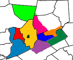 Susquehanna Counties Political Map