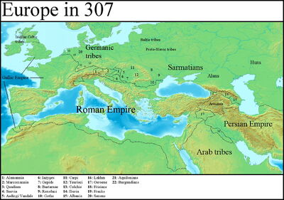 Europe in 307 (Gaul Rising)