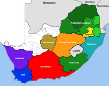 South Africa Map 2013 (DD)