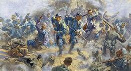 Французское наступление под Монном