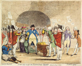 Карикатура на Георга III