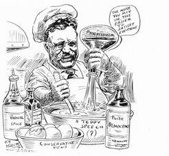 Карикатура на Рузвельта