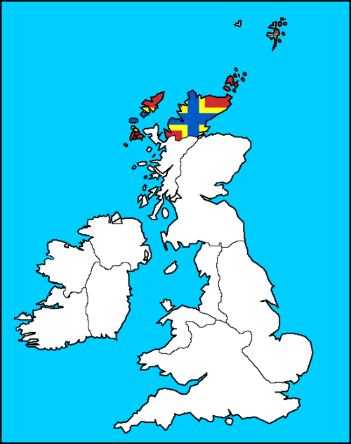 Orkney Map (the Kalmar Union)