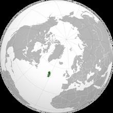 Escadia Orthographic Projection (Atlantic Ocean Islands)