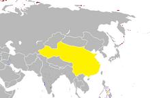 Mapa china real