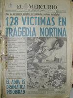 Mercurio Antofagasta aluvion 1991