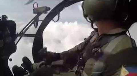 Philippine Air Force MD-520 Attack Helicopter Conducting an AirStrike Against Abu Sayyaf Group