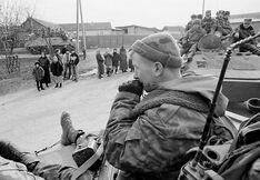 Российские войска в Надтеречном районе