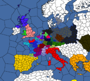 Map of Francia (Birth of Civilization Map Game)