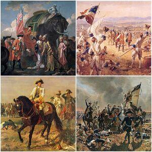 Seven Years' War Collage