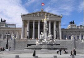 Austria Parlament Front-Ausschnitt