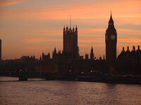 Houses of parliament dusk-Public-Domain
